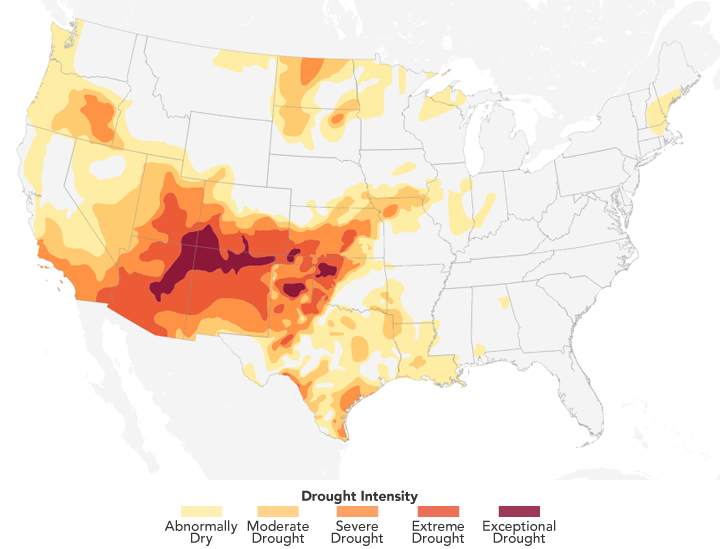 Intensifying Drought in the American Southwest