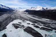 Dirty, Crevassed Glaciers in Alaska