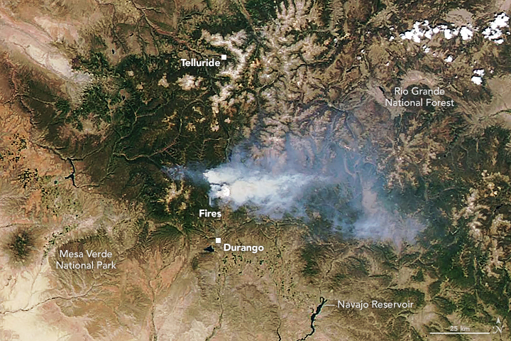 416 Wildfire Rages in Colorado