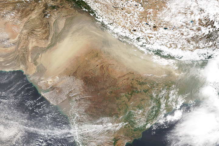 Hazardous Pre-Monsoon Dust Pollution