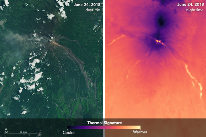 Heat Lingers from Fuego's Deadly Pyroclastic Debris Flows - related image preview
