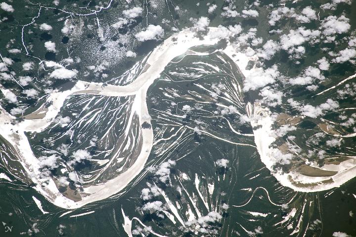 Amazon Meanders in Sunglint