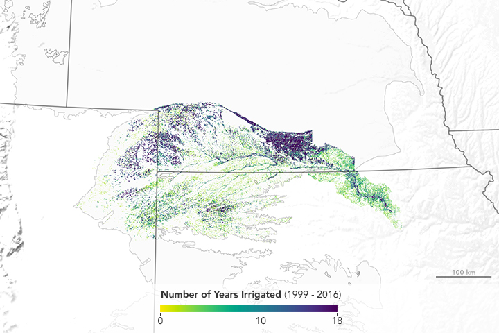 Satellites Investigate Irrigation in a Stressed Aquifer - related image preview