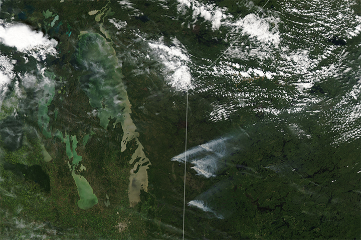 Fires in Manitoba and Northern Ontario