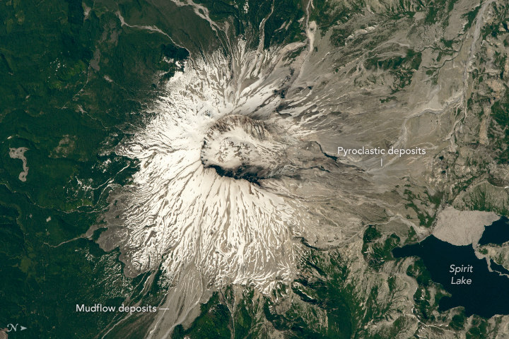 An Astronaut's View of Mount St. Helens