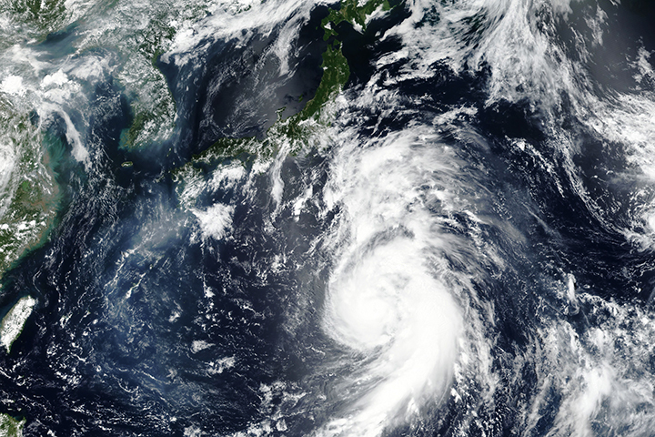 Typhoon Jongdari - selected image