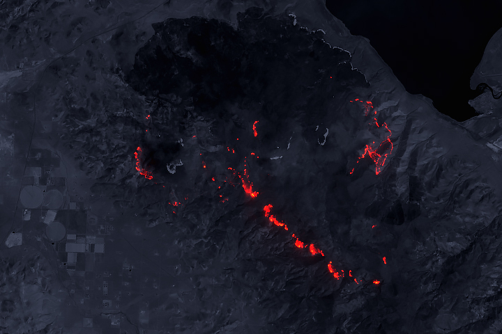 The Perry Fire by Day and Night - selected image