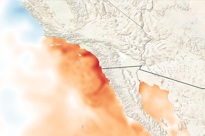 Record Warm Waters off Southern California - selected image