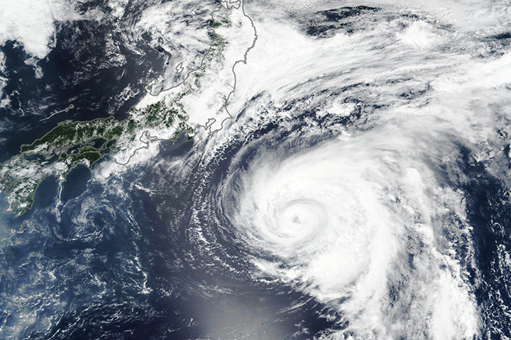 Typhoon Shanshan Approaches Japan