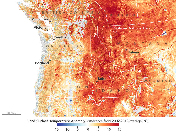 The Northwest is Running Hot and Dry