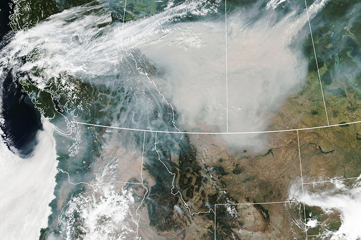 Smoky Skies in North America - selected image