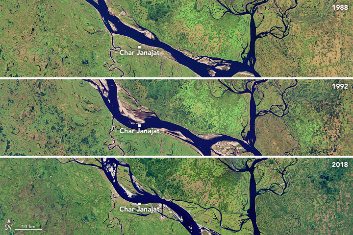 Meandering Bends of the Lower Padma River