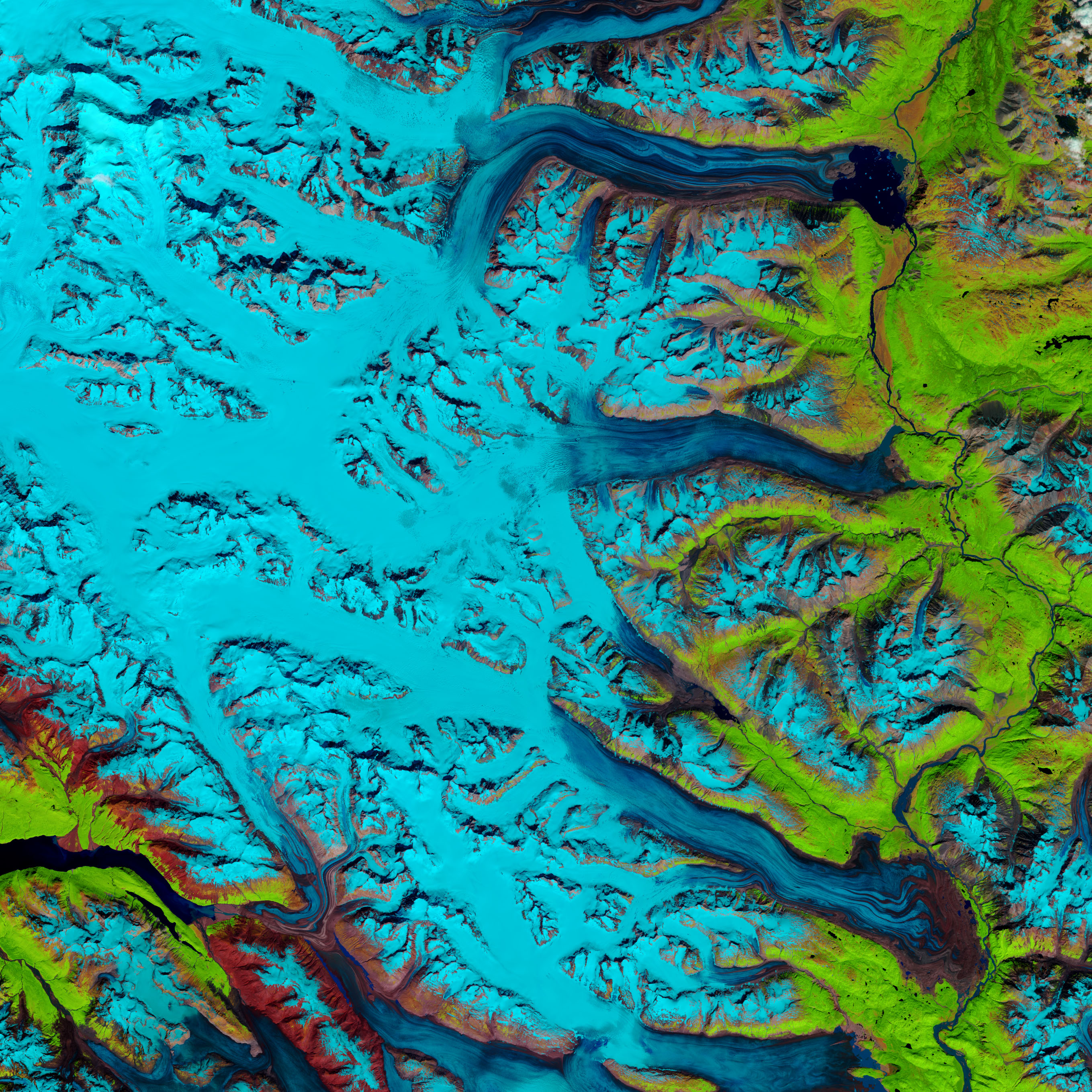 """Snow Swamp"" on Lowell Glacier  - related image preview"