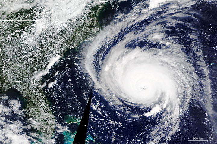 Awesome, Frightening Views of Hurricane Florence