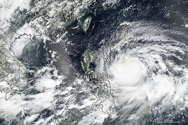 Mangkhut Bearing Down on The Philippines