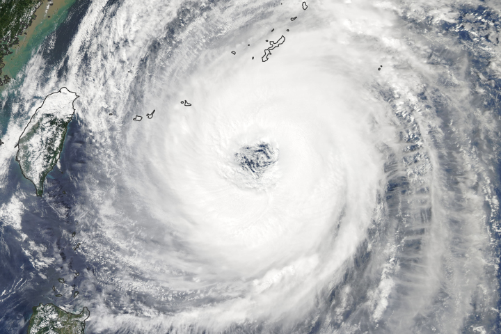 Typhoon Trami Takes Aim at Japan