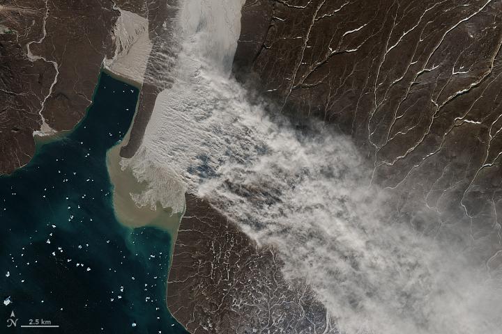 Glacier Flour in Greenland Skies