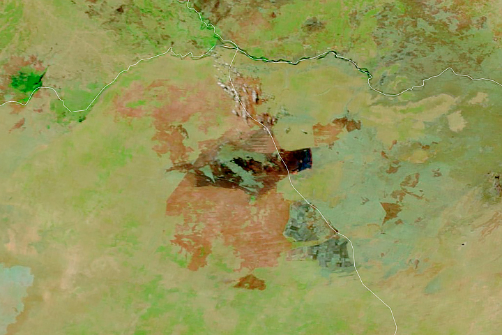 Fires Scar Northern Botswana