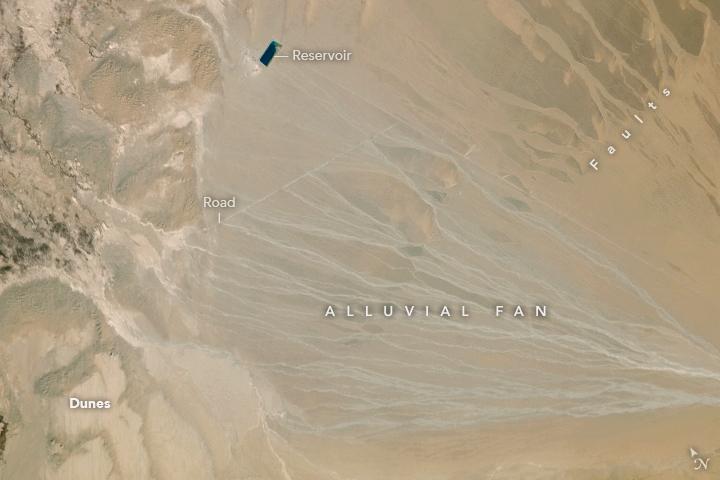 Alluvial Fan, Taklimakan Desert