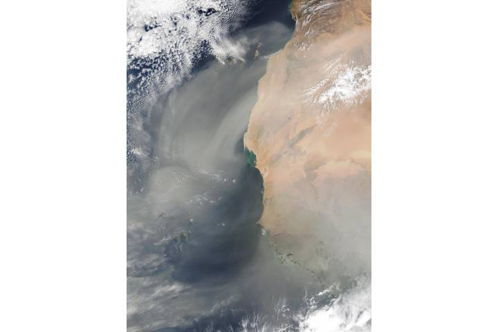 Saharan dust off West Africa - selected image