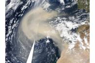 Saharan dust over the Atlantic
