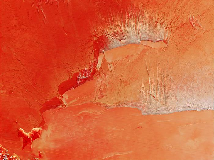 B-15 iceberg family in the Ross Sea, Antarctica (false color) - related image preview