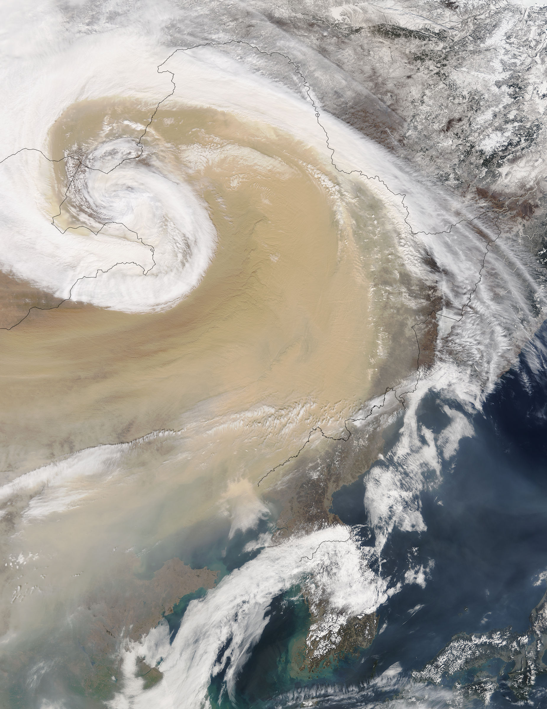 Dust storm over China - related image preview