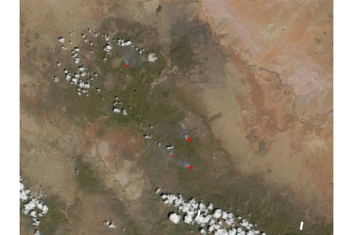Fires in the Flagstaff area (Arizona) - selected image