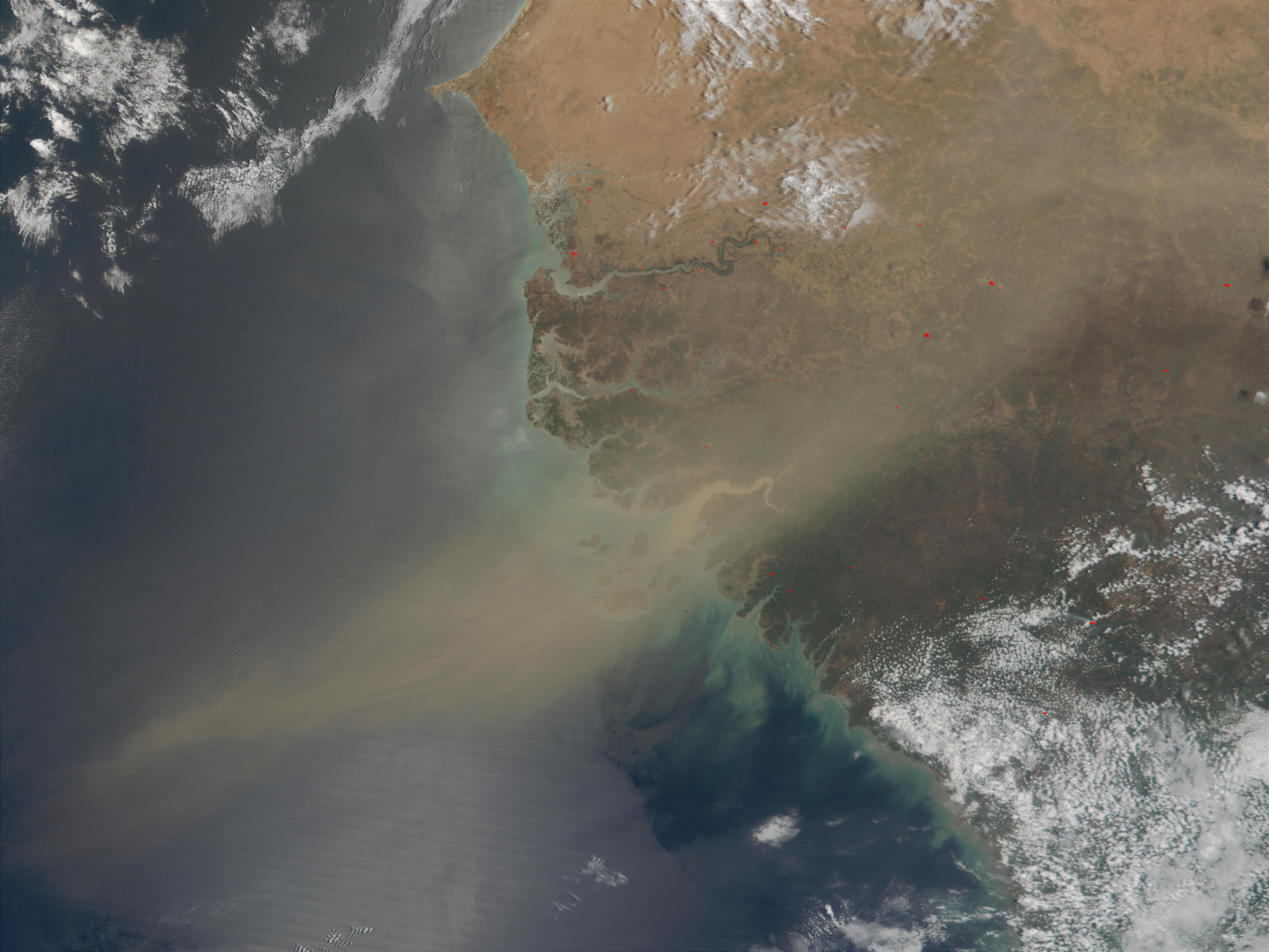 Dust plume off the west coast of Africa - related image preview