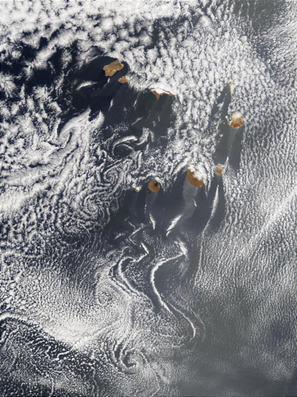 Cloud swirls in the wake of Cape Verde Islands - related image preview