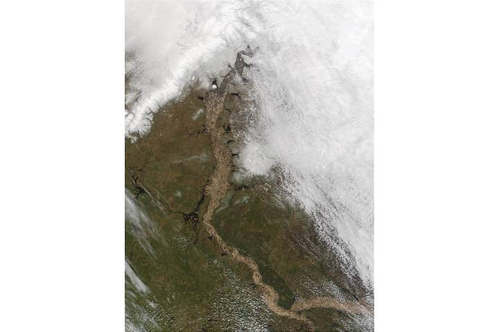 Ob River, Northern Russia - selected image