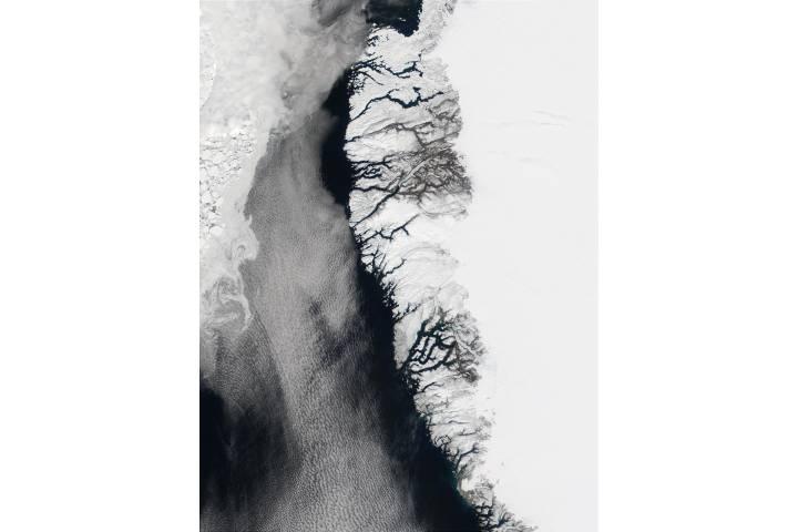 Southwest coast of Greenland and Davis Strait - selected image