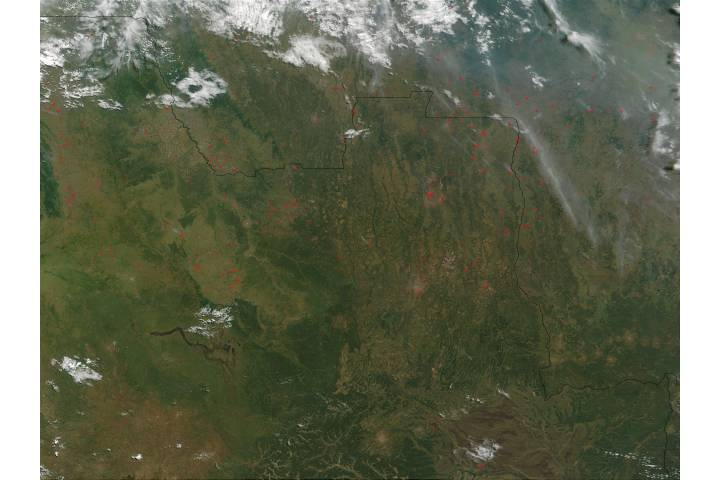 Fires in Angola and Democratic Republic of the Congo - selected image