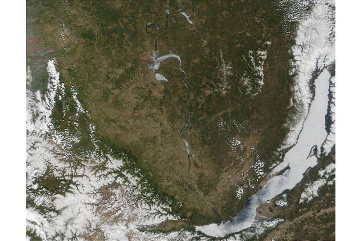 Wildfires west of Lake Baikal, Southern Russia - selected image
