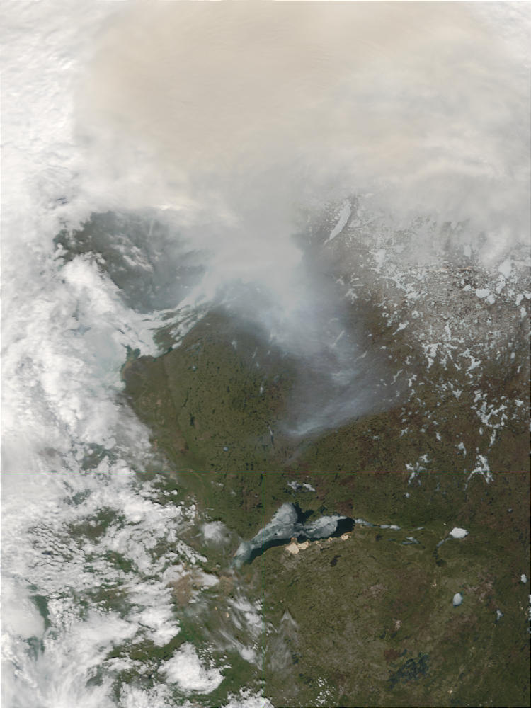 Lake Athabasca, and smoke from fires in Alberta, Canada - related image preview