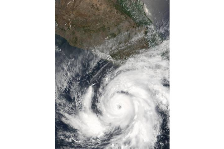 Hurricane Adolph off the coast of Mexico - selected image