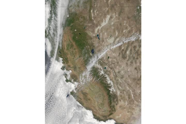 Fires near Pyramid Lake and Reno, Nevada - selected image