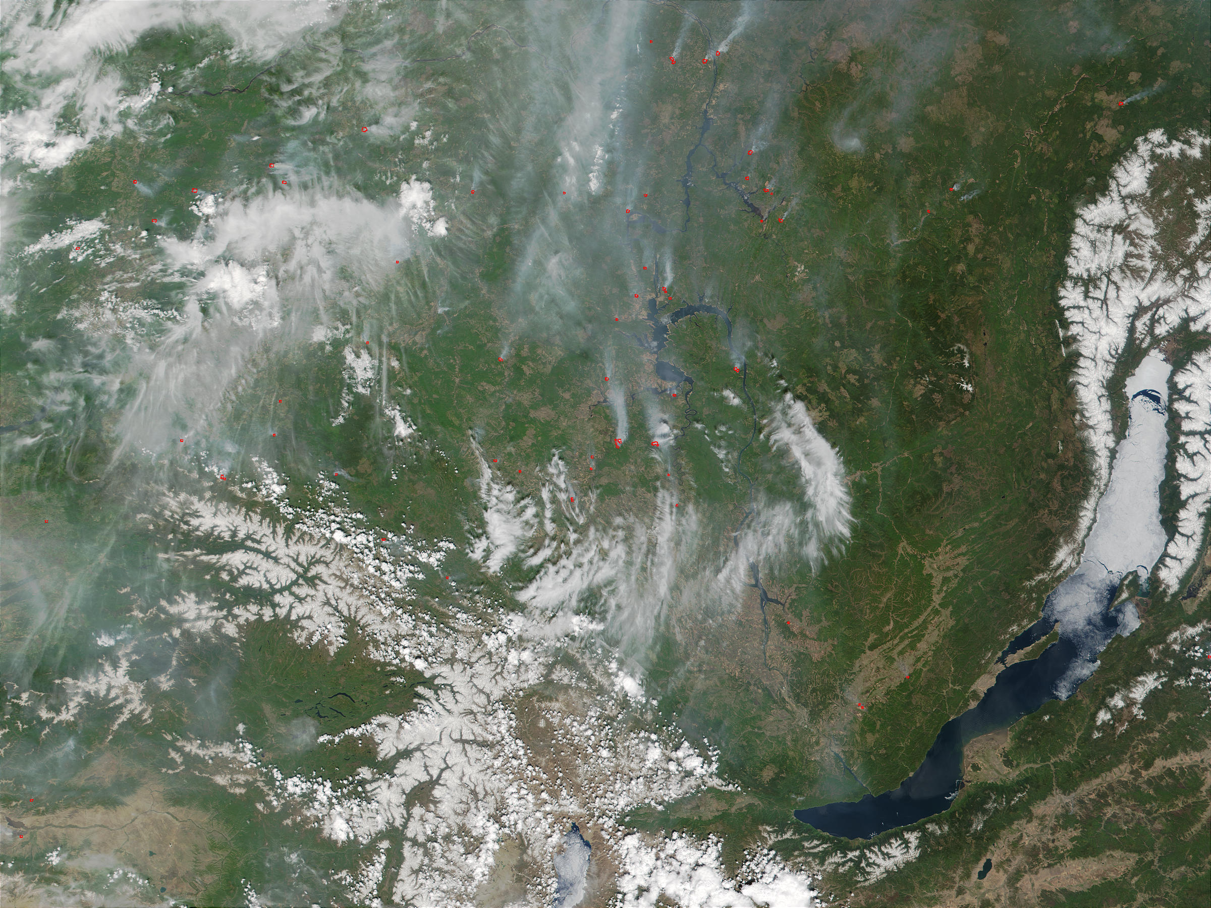Fires near Lake Baikal, Russia - related image preview