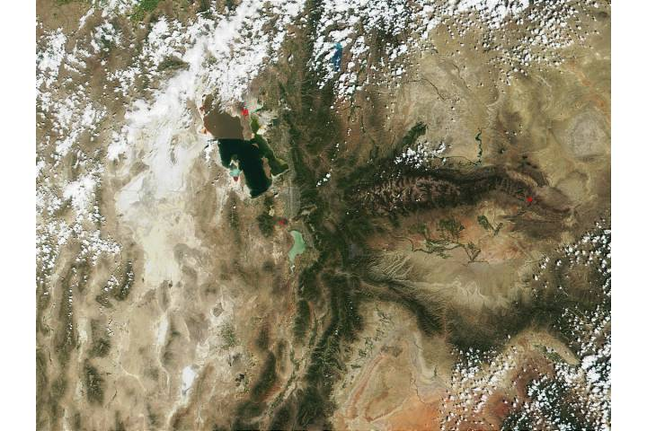 Fires near Salt Lake City, Utah - selected image