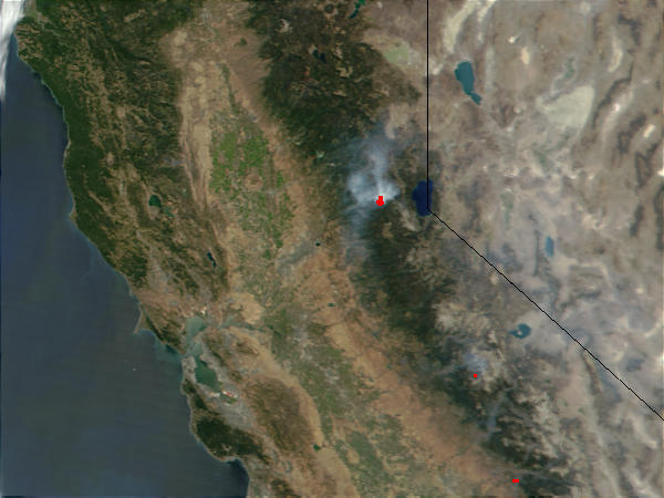 Wildfires in California (Input Direct Broadcast L1B data courtesy ORSOO) - related image preview