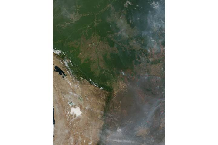 Fires in Bolivia, Brazil, and Paraguay - selected image