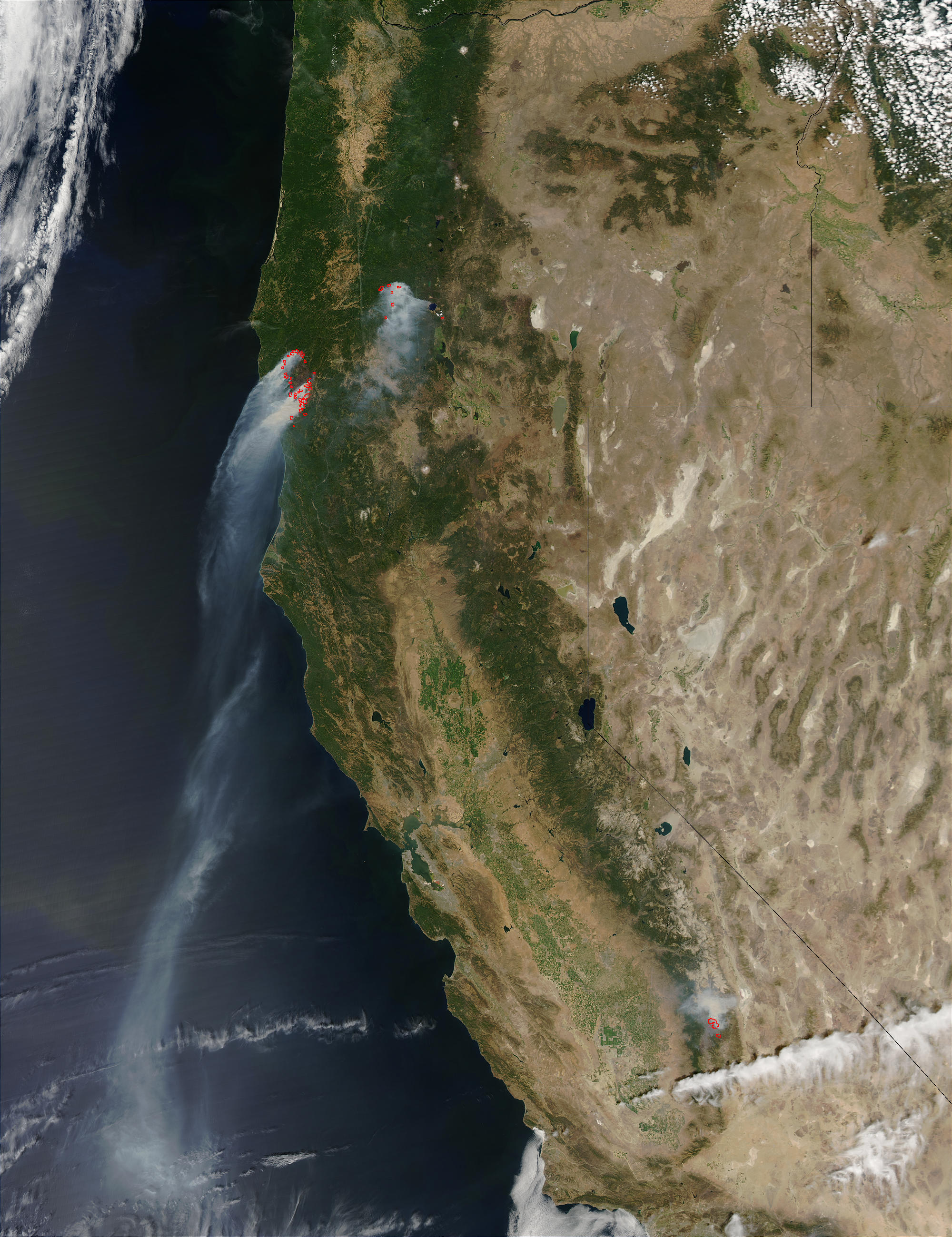 Fires in Oregon and California - related image preview