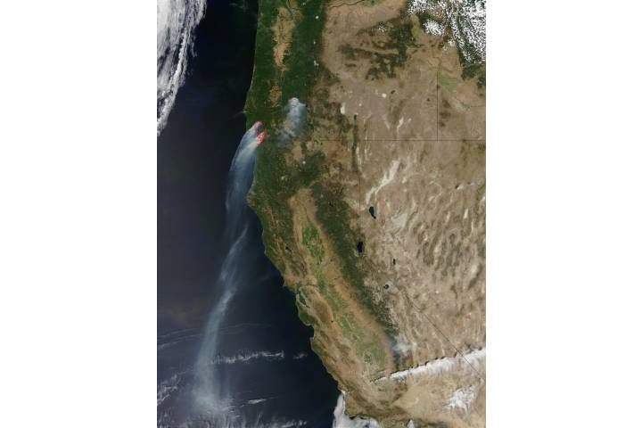 Fires in Oregon and California - selected image