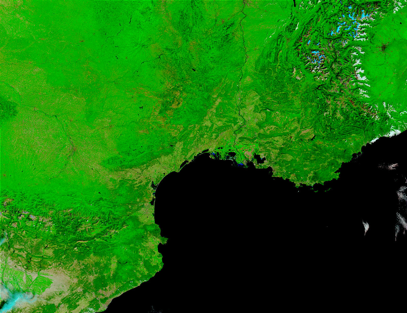 Southern France (before floods) (false color) - related image preview