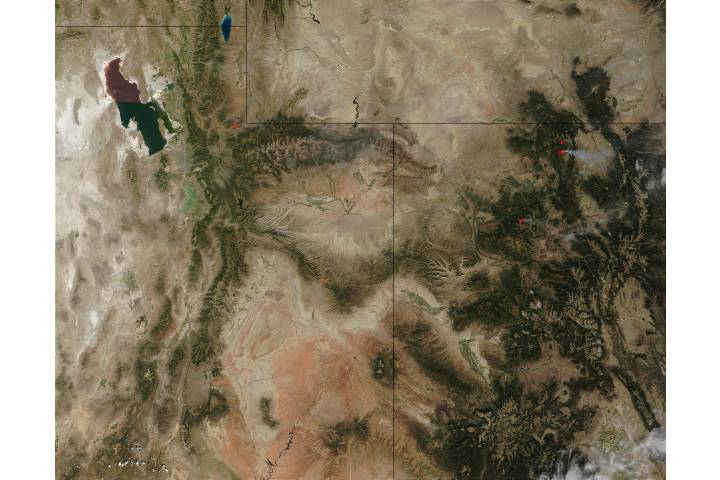 Fires in Colorado and Utah - selected image