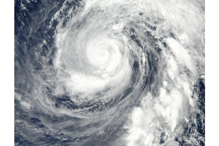 Typhoon Phanfone (19W) north of Mariana Islands, Pacific Ocean - selected image