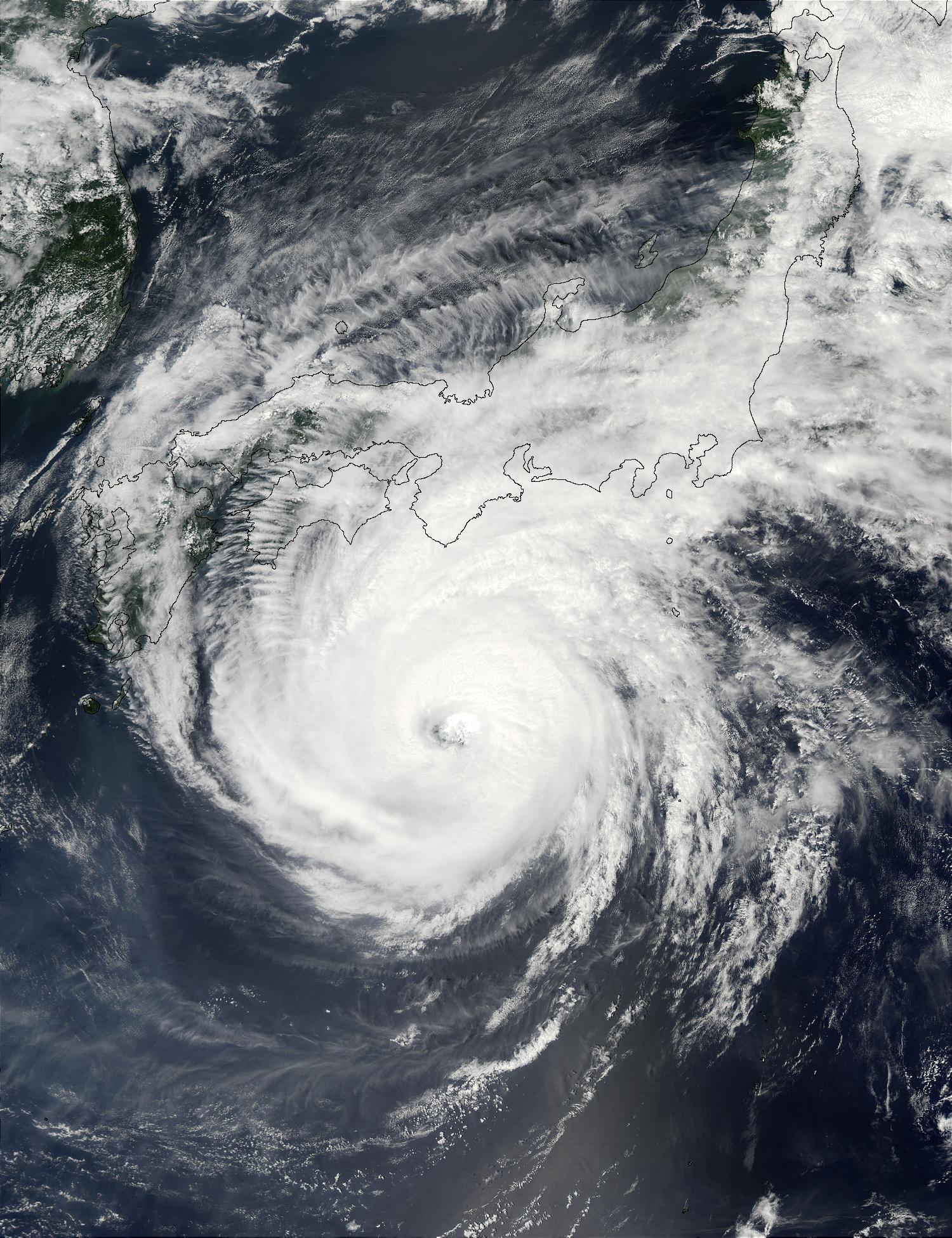 Super Typhoon Phanfone (19W) south of Japan - related image preview