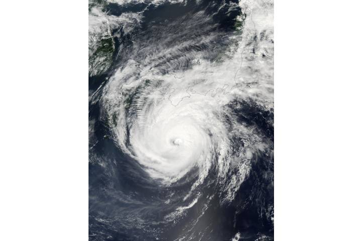 Super Typhoon Phanfone (19W) south of Japan - selected image