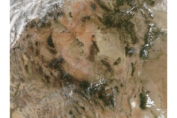 Fires in Arizona and New Mexico - selected image