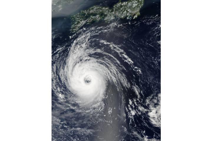 Typhoon Sinlaku (22W) south of Japan - selected image